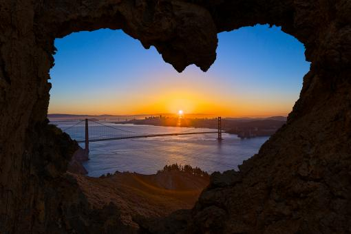 Free Stock Photo of San Francisco Love Sunrise