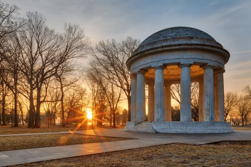 Free Stock Photo of DC Sunrise War Memorial