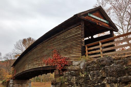 Free Stock Photo of Humpback Covered Bridge