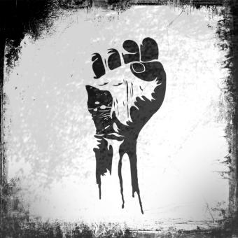 Free Stock Photo of Raised Fist - Power to the People - Grunge