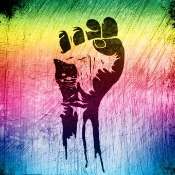 Free Stock Photo of Power to the People - Raised Fist - Grunge Background