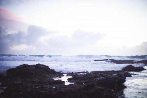 Free Stock Photo of Crashing Waves at Reykjanes Peninsula