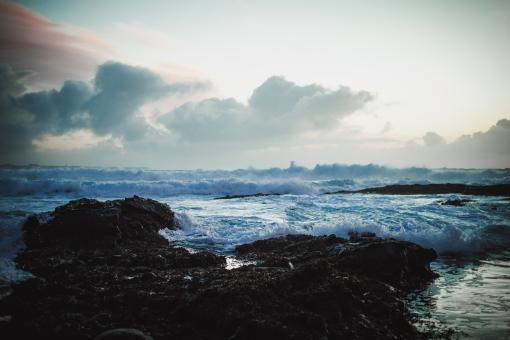 Free Stock Photo of Harsh Seas in Iceland