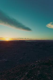 Free Stock Photo of Midnight Sunset at Reykjanes Peninsula
