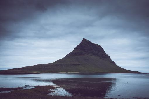 Free Stock Photo of Kirkjufell Mountain