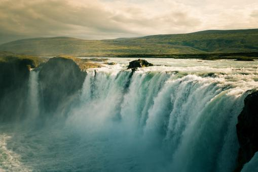 Free Stock Photo of Godafoss Waterfalls - Iceland