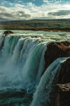 Free Stock Photo of Icelandic Waterfall Godafoss