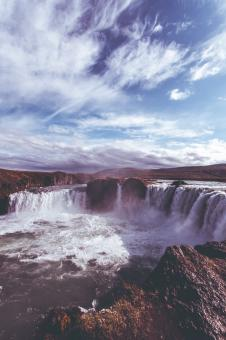 Free Stock Photo of Godafoss Waterfall in Iceland
