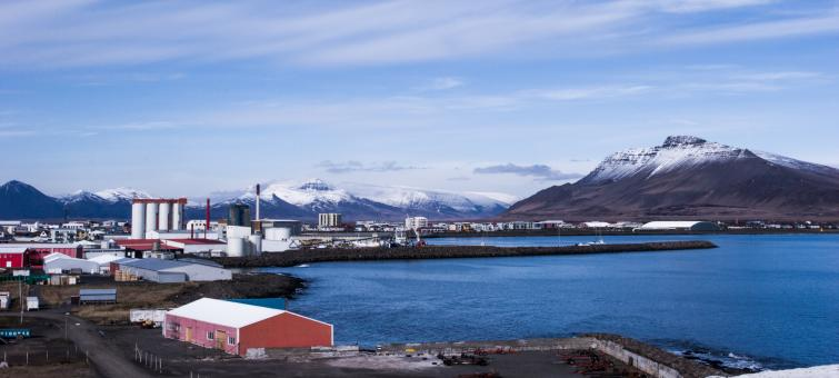 Free Stock Photo of Akranes Village Harbor - Iceland