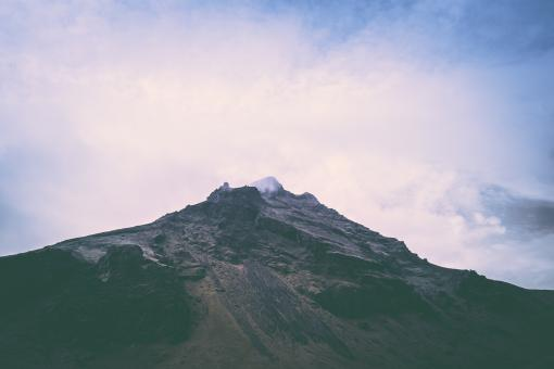 Free Stock Photo of Dramatic Mountain Peak in Iceland