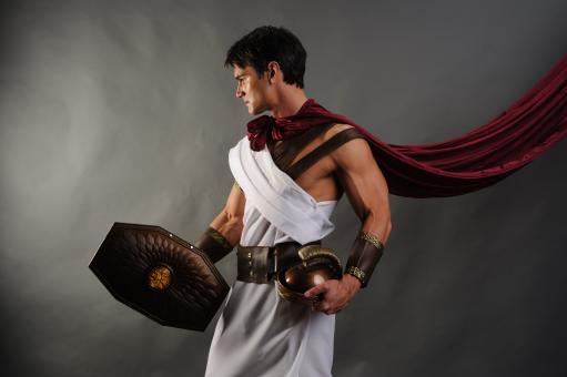 Free Stock Photo of Roman Soldier Posing