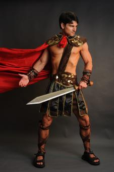 Free Stock Photo of Man in Warrior Costume
