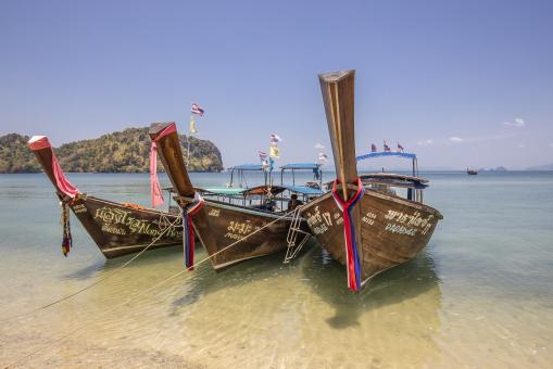 Free Stock Photo of Boats on the Beach in Thailand