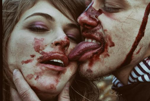 Free Stock Photo of Bloody Couple