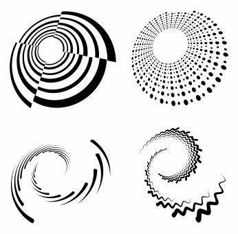 Free Stock Photo of Set of Spirals and Swirls