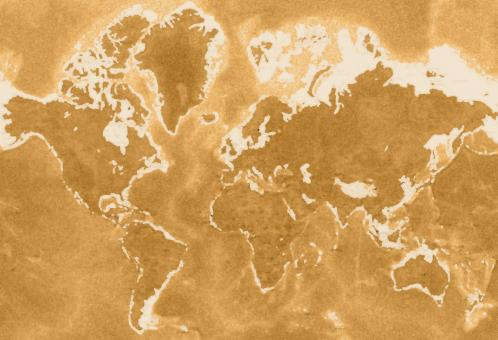 Free Stock Photo of Old earth map texture with gold effect