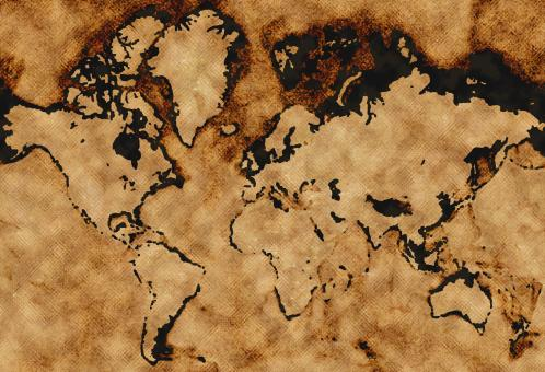 Free Stock Photo of Burned earth map texture