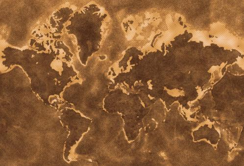 Free Stock Photo of Worn earth map texture