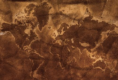 Free Stock Photo of Dark grunge earth map texture
