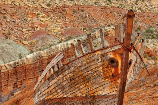 Free Stock Photo of Desert Shipwreck