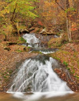 Free Stock Photo of Autumn Roaring Slide Falls