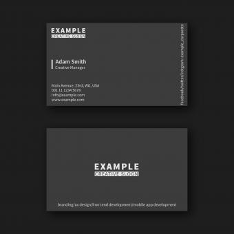 Free Stock Photo of Dark Simple Business Card Layout
