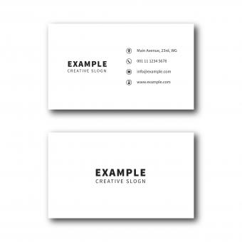 Free Stock Photo of White Simple Business Card Layout