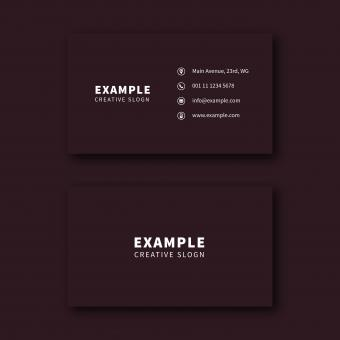 Free Stock Photo of Dark Red Business Card Layout
