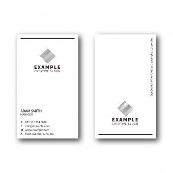 Free Stock Photo of Simple Portrait Business Card Layout