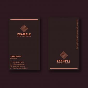 Free Stock Photo of Dark Portrait Business Card Layout