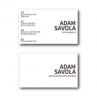 Free Stock Photo of Minimal Business Card Layout
