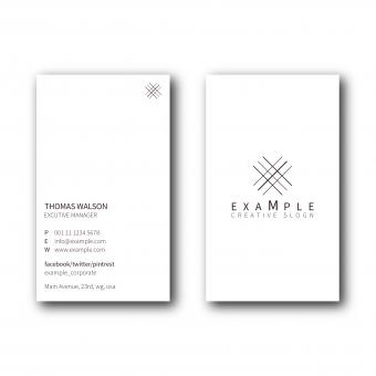 Free Stock Photo of Minimal Portrait Business Card Layout