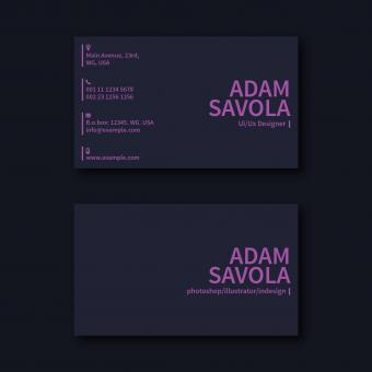Free Stock Photo of Purple Simple Business Card Layout