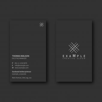 Free Stock Photo of Gray Minimal Business Card Layout