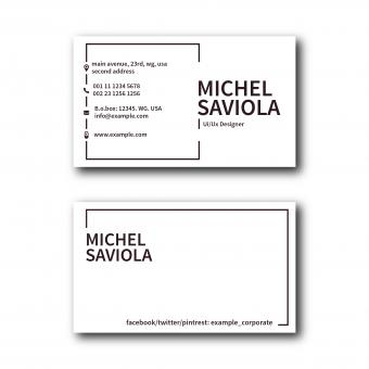 Free Stock Photo of Clean Minimal Business Card Layout