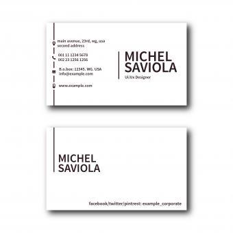 Free Stock Photo of Simple Clean Business Card Layout