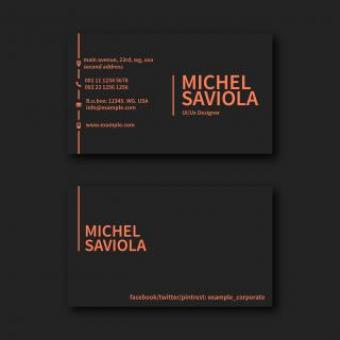 Free Stock Photo of Dark Modern Business Card Layout