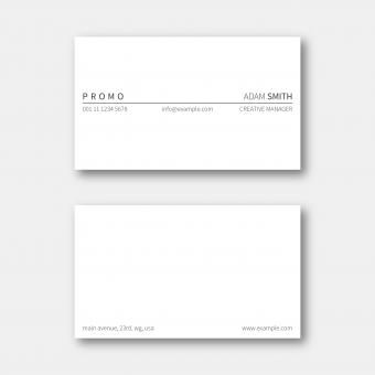 Free Stock Photo of Minimalistic Business Card Layout