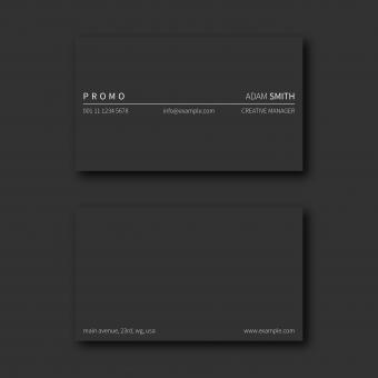 Free Stock Photo of Dark Minimalistic Business Card Layout