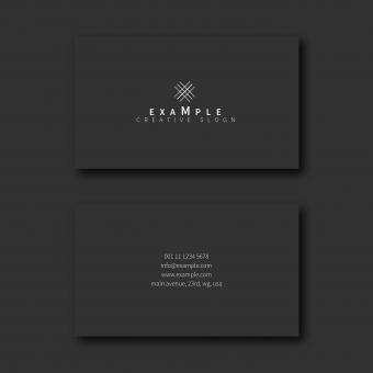 Free Stock Photo of Dark Elegant Business Card Layout