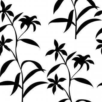 Free Stock Photo of Black and White Seamless Floral Pattern