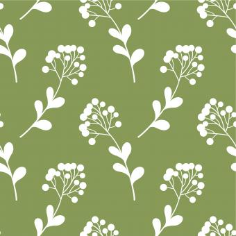 Free Stock Photo of Green and White Floral Seamless Pattern