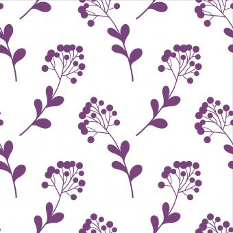 Free Stock Photo of White and Purple Floral Pattern