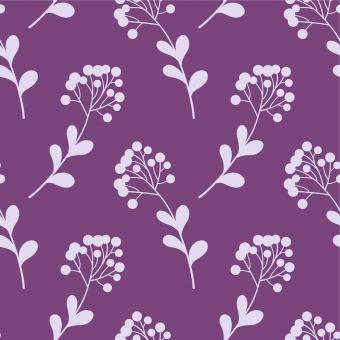 Free Stock Photo of Floral Seamless Pattern - Purple and White