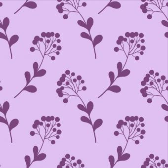 Free Stock Photo of Floral Seamless Purple Pattern