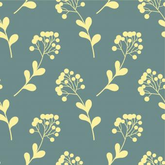Free Stock Photo of Blue and Yellow Floral Seamless Pattern