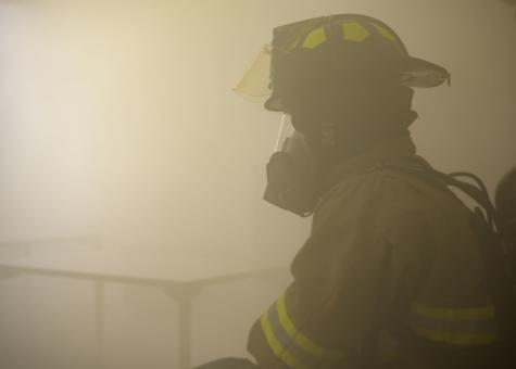 Free Stock Photo of Firefighter in Smoke