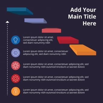 Free Stock Photo of Dark flat infographic with 3d elements