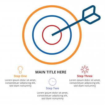 Free Stock Photo of Light flat infographic with bullseye