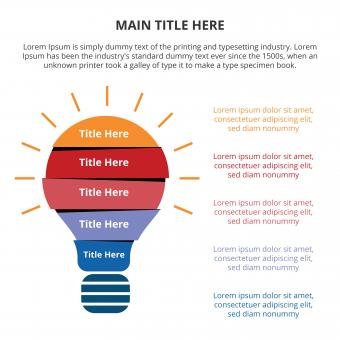 Free Stock Photo of Light flat infographic with bulb